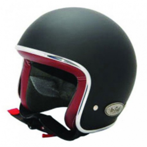 BARUFFALDI ZAR VINTAGE Jet Helmet - Black and Red