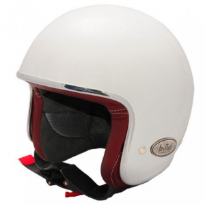 BARUFFALDI ZAR VINTAGE Jet Helmet - White and Red