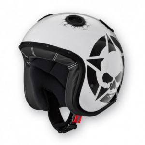 CABERG Doom Darkside Open Face Helmet - White