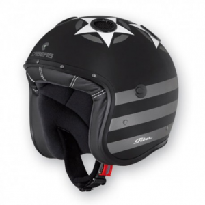 CABERG Doom Patriot Open Face Helmet - Black