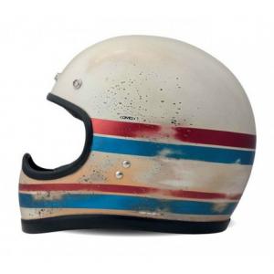 DMD RACER LINE HANDMADE Full Face Helmet - Matt White