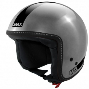 MAX Power Naked Open Face Helmet - Chrome Steel