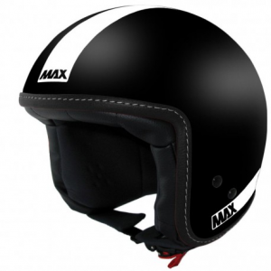 MAX Power Naked Open Face Helmet - Black