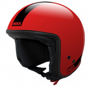 MAX Power Naked Open Face Helmet - Red