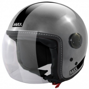 MAX Power Open Face Helmet - Chrome Steel