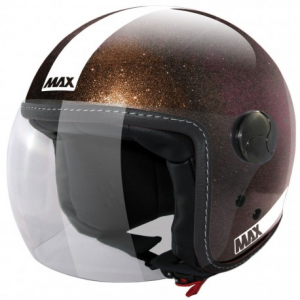 MAX Power Open Face Helmet - Brown