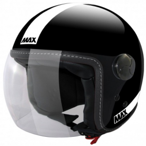 MAX Power Open Face Helmet - Shiny Black