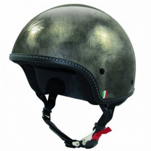 MAX Mini Scratch Half Helmet - Chrome Black