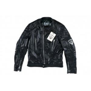 MOTO MORINI Biker Leather Woman Jacket - Black