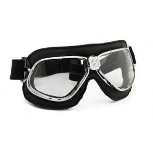 NANNINI Cruiser Helmet Goggles - Chrome/Black