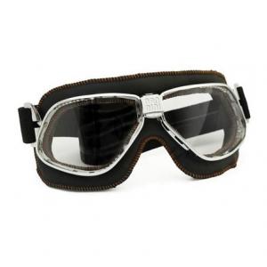 NANNINI Cruiser Helmet Goggles - Chrome/Black/Arancio