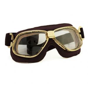 NANNINI Cruiser Helmet Goggles - Gold/Brown