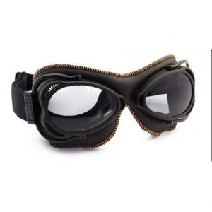 NANNINI Streetfighter Helmet Goggles - Black/Black/Orange