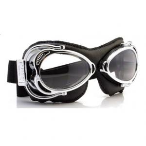 NANNINI Streetfighter Helmet Goggles - Chrome/Black