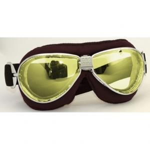 NANNINI TT Helmet Goggles - Chrome/Brown