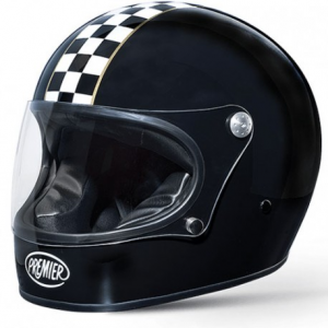PREMIER Trophy Ck Black Full Face Helmet - Black