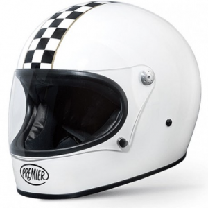 PREMIER Trophy Ck White Full Face Helmet - White