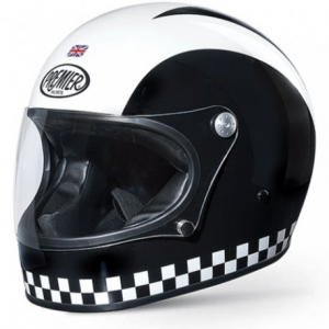 PREMIER Trophy Retro Full Face Helmet - Black