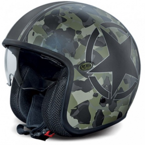PREMIER Vintage Camouflage BM Open Face Helmet - Multicolor
