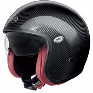 PREMIER Vintage Carbon Open Face Helmet - Black