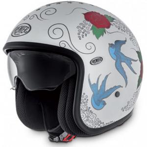 PREMIER Vintage SKM 18 BM Open Face Helmet - White