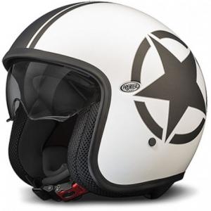 PREMIER Vintage STAR 8 BM Open Face Helmet - White