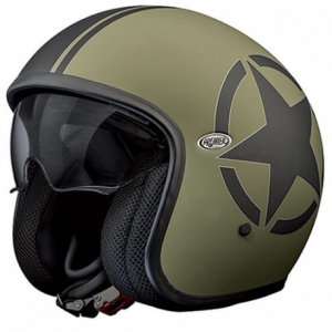 PREMIER Vintage STAR MILITARY BM Open Face Helmet - Green