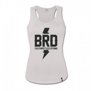 BERIDER BRD Full Throttle Clothing Woman Top Tank - White