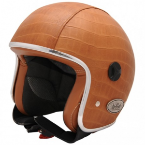 BARUFFALDI ZEON VINTAGE CROCCO Jet Helmet - Brown and Black