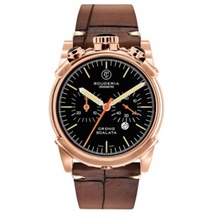CT SCUDERIA Cronografo Collection CS10150N Wrist Watch - Rose Gold/Brown