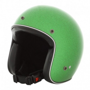 HOLY FREEDOM Metalflake Open Face Helmet - Green