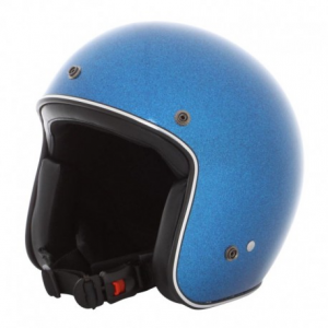 HOLY FREEDOM Metalflake Open Face Helmet - Blue