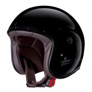 CABERG Freeride Open Face Helmet - Glossy Black