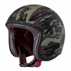 CABERG Freeride Commander Open Face Helmet - Military Green