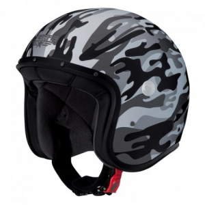 CABERG Freeride Commander Open Face Helmet - Military Gray
