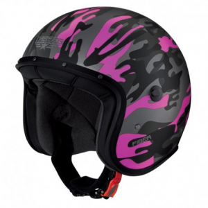 CABERG Freeride Commander Open Face Helmet - Military Fuchsia