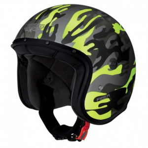 CABERG Freeride Commander Open Face Helmet - Military Yellow