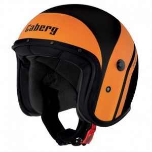 CABERG Freeride Mistral Open Face Helmet - Black and Orange