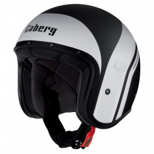 CABERG Freeride Mistral Open Face Helmet - Black and White