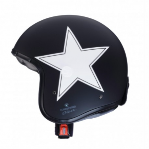 CABERG Freeride Star Open Face Helmet - Black