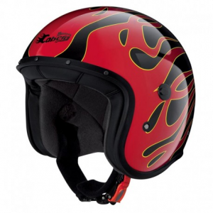 CABERG Freeride Flame Open Face Helmet - Multicolor