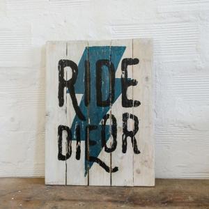 BERIDER Ride or Die Cafe Racer Wood Sign - Blue