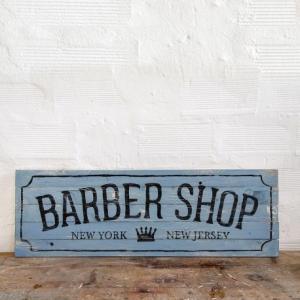 BERIDER Barber Shop New York Cafe Racer Wood Sign - 90x29