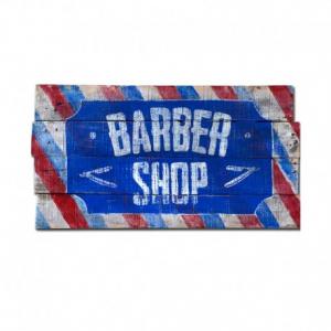 BERIDER Barber Shop Cafe Racer Wood Sign - 54x29