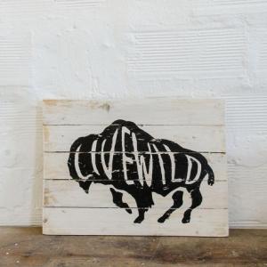 BERIDER Livewild Cafe Racer Wood Sign - 40x30