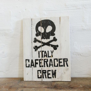 BERIDER Italy Cafe Racer Crew Cafe Racer Wood Sign - 30x40