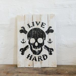 BERIDER Live Hard Cafe Racer Wood Sign - 30x40