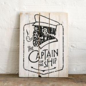 BERIDER Captain Vintage Cafe Racer Wood Sign - 30x40