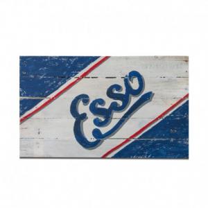 BERIDER Esso Cafe Racer Wood Sign - 54x29