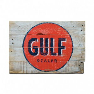 BERIDER Gulf Cafe Racer Wood Sign - 41x28